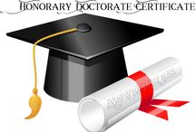 Honorary Doctorate Certificate
