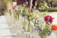 Flowers and tables