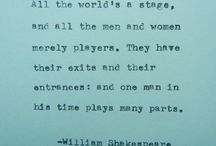 7 ages of Man / woman / All the worlds a stage
