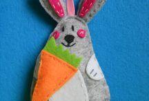 Felt Easter / Filc Wielkanoc / Table includes Easter decorations made personally by me from felt. I would recommend :)   Tablica zawiera ozdoby wielkanocne zrobione własnoręcznie przez mnie z filcu. Polecam :)