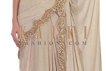 Gold party saree's