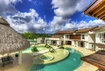 """Caribbean Vacation Rental – Villa Tropical Dream / How about this resort-like Caribbean vacation rental to warm up your Wednesday? Villa Tropical Dream is a stunning estate home located in the gated community of Cap Cana in Punta Cana, in the Dominican Republic. With 8 bedrooms and the ability to host up to 18 this is the perfect place to celebrate a milestone event with friends and family. The pool and cabana area, the centerpiece of the property, is magnificent. Truly an """"exotic"""" estate. Learn more now: http://bit.ly/villatropicaldream"""