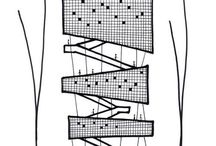 Architecture drawing / Desenhos e esboços arquitetônicos em diversas fases de projeto.