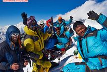 """www.BaruntseExpedition.com Oct-Nov / Nepal's """"easiest"""" 23,000 foot high peak. This trip is very unique in that it offers something for everyone, from the novice to the expert. The Baruntse Expedition really is a """"grand circle"""" climbing trip through the Everest Himalaya, and climbs famous Mera 'trekking-peak', then Baruntse, then crosses the amazing 'Amphu-Labtsa' pass, which is like another summit itself. www.BaruntseExpedition.com  12 October to 14 November. 34 days in Nepal."""