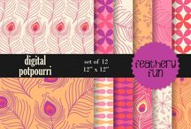 Fancy Feathers / Find beautiful feather clip art designs and patterns