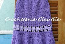 Vestidos de crochê / Minhas criações