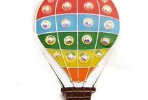 Rainbow-Theme Ball Markers