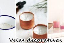 Velas decorativas DIY