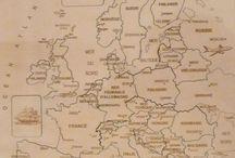 Puzzle géographique artisanal Carte de l'Europe