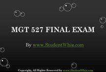 MGT 527 Final Exam