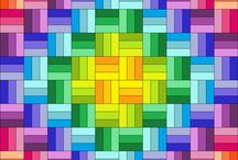 Rainbow quilts / Awesome and colorful