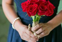 Wedding Theme Navy & Cherry Red
