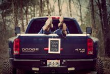 engagement photos with truck
