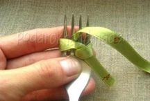 Tie a bow with fork