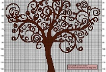 trees cross stitch / alberi a punto croce