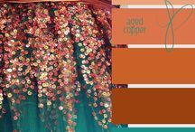 {colours} - copper & teal