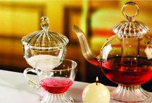 Tea / Unique handmade glass tea sets. Shop on: www.gabrielaseres.com