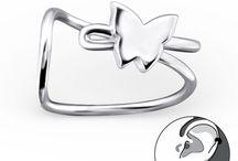 Silver cuff earrings / Sterling silver jewelry: stylish cuff earrings for women.