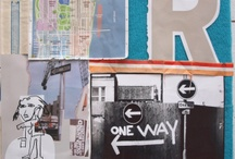 My collages - New York City Blues / Brought back a lof of stuff from New York, couldn't help but put it together as collages...
