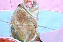 Animals / New  series of mixed media animal paintings