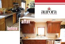 Aurora's Before & After / Take a look at Aurora's before and after photos of what we did with our clients' kitchen
