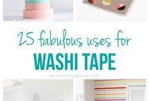 washi tape.... tante ideeee / colorare ogni cosa con i washi tape