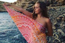 Beach Round Tapestry