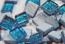 Glitter Glas 10x10 mm
