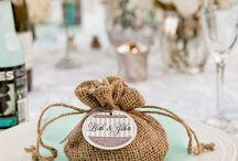 Rustic Chic Blue-White and Gold Wedding