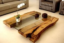 Rustic wood furniture In & outdoor