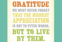 Gratitude / Sayings and quotations that foster an attitude of gratitude