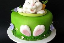 Easter cakes and figurines