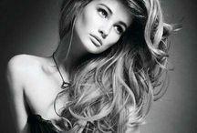 ChEvEux noir et blanc photo / Cheveux noir et blanc photo