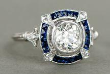 Bague fiançailles diamant saphir