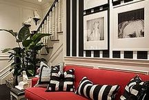 Black & White / The rules of creating exceptional Interior Designs aren't Black & White. Or are they?   What's our favorite part of the eye catching contrast of Black & White designs? Any color from the spectrum can be used as an accent color--and it works!!!  Get professional interior design tips and read more about the designs that inspire us on our interior design blog: http://www.DesignConnectionInc.com/Blog  Design Connection, Inc. | Kansas City Interior Design