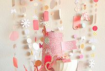 DIY Garland ~ Pennants ~ Banners ~ Poms ~ Bunting ~ Lanterns / I have as much fun playing dress-up with a room, as I do dressing up myself. LOL! / by Kathy Jones ~ Dust Bunny Trail