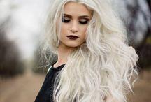 white blonde :) (: