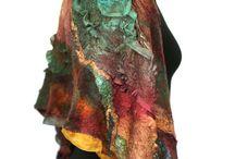 nuno, felt and fibre art