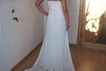 Horgolt menyasszonyi ruhák