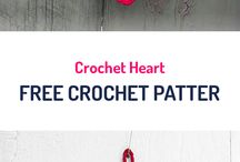Hearts crocheted