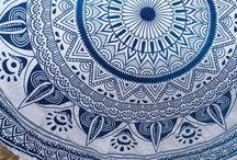 lotus design tapestry