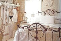 French vintage/shabby chic bedroom