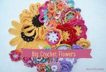 Crochet Flowers & Leaves / Crochet flowers