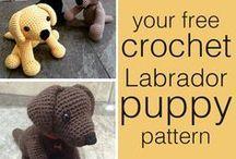 dog. crochet dog.