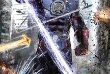 9th Art | MARVEL super dudes & badass villians / Comics: Hardline & Inked Art, Panel Art, Characterised Illustration