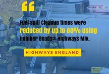 Cleaning Fuel Spills On Rodeways / Diesel fuel, gasoline and motor oil spills cause traffic delays on a daily basis.  Imbiber Beads® Highways Mix fixes these problems.  FAST!