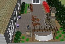 3-D Models and Renderings / Everything is better in 3-D, especially a landscape design.