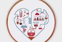 chemistry cross stitch