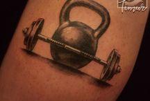 kettle bell tattoo