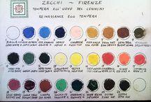 colours, pigments...